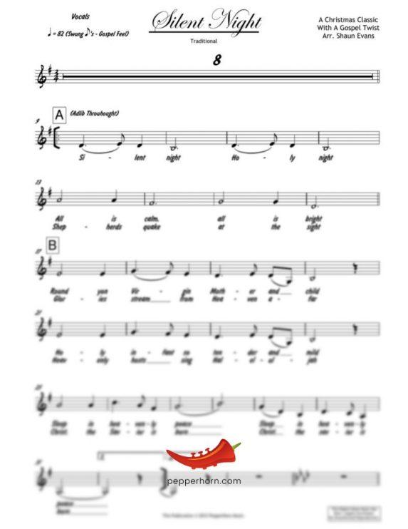 Silent Night (PepperHorn Standards) 4 Horn Bari
