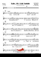 Baby It's Cold Outside (Ray Charles) 4 Horn Alto