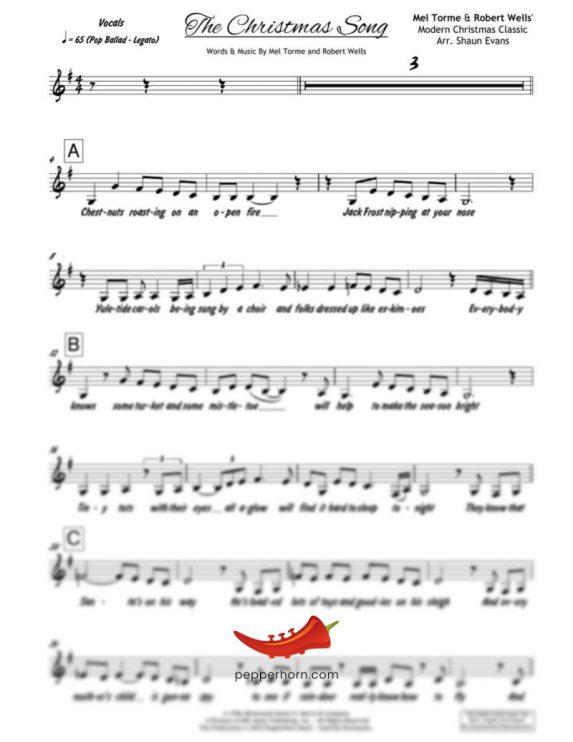 The Christmas Song (PepperHorn Standards) 3 Horn