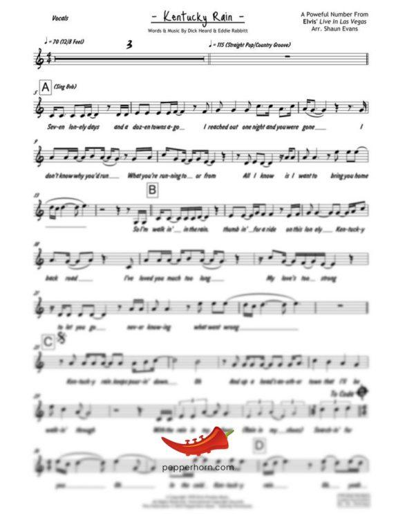 Kentucky Rain (Elvis Presley) 4 Horn Trumpet II