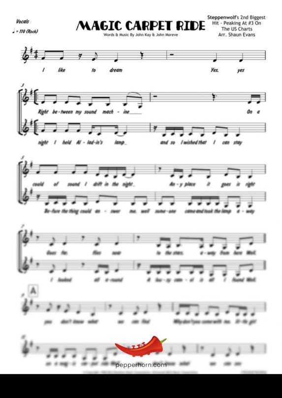Magic Carpet Ride (Steppenwolf) 4 Horn Trumpet II