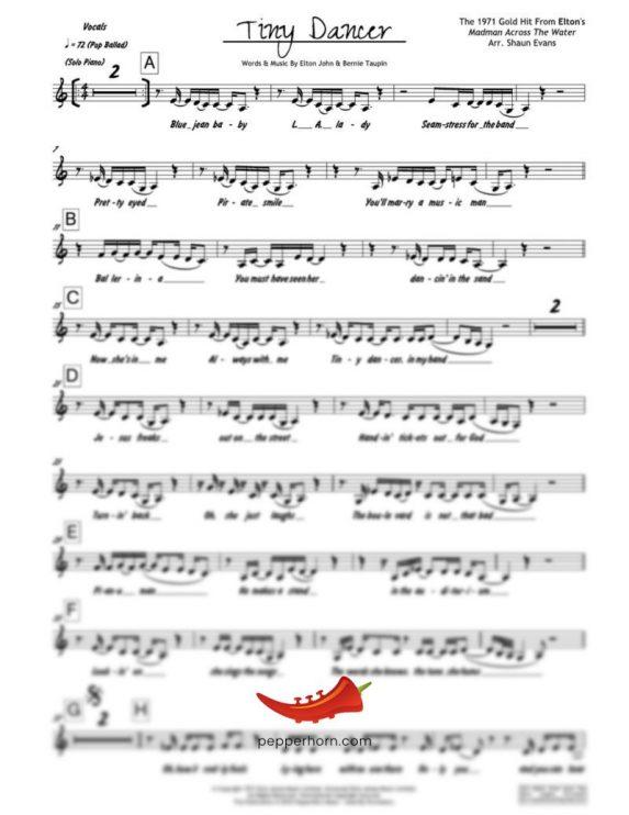 Tiny Dancer (Elton John) 4 Horn Bari