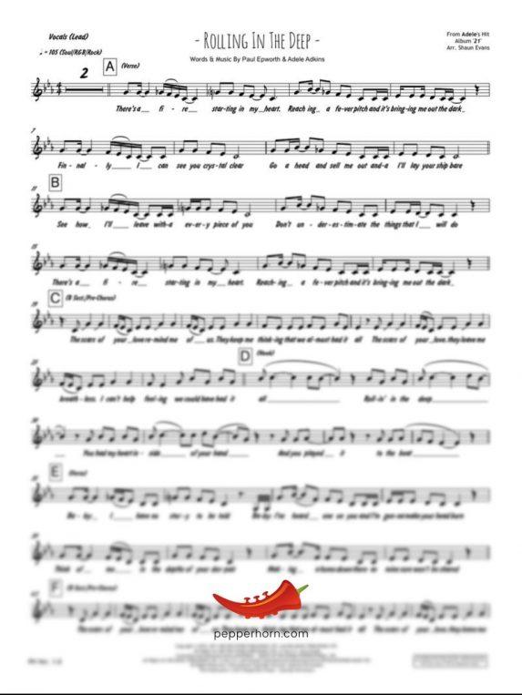 Rolling In The Deep (Adele) 4 Horn Trumpet II